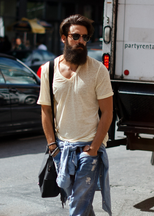 Bearded Man, NYC
